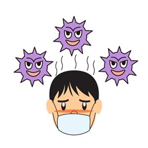 インフルエンザ、家族感染、自分を守る