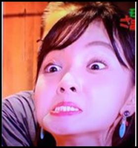 田中瞳アナ,変顔